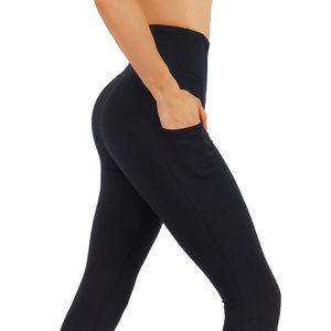 Pants - Deep side pockets workout leggings Black